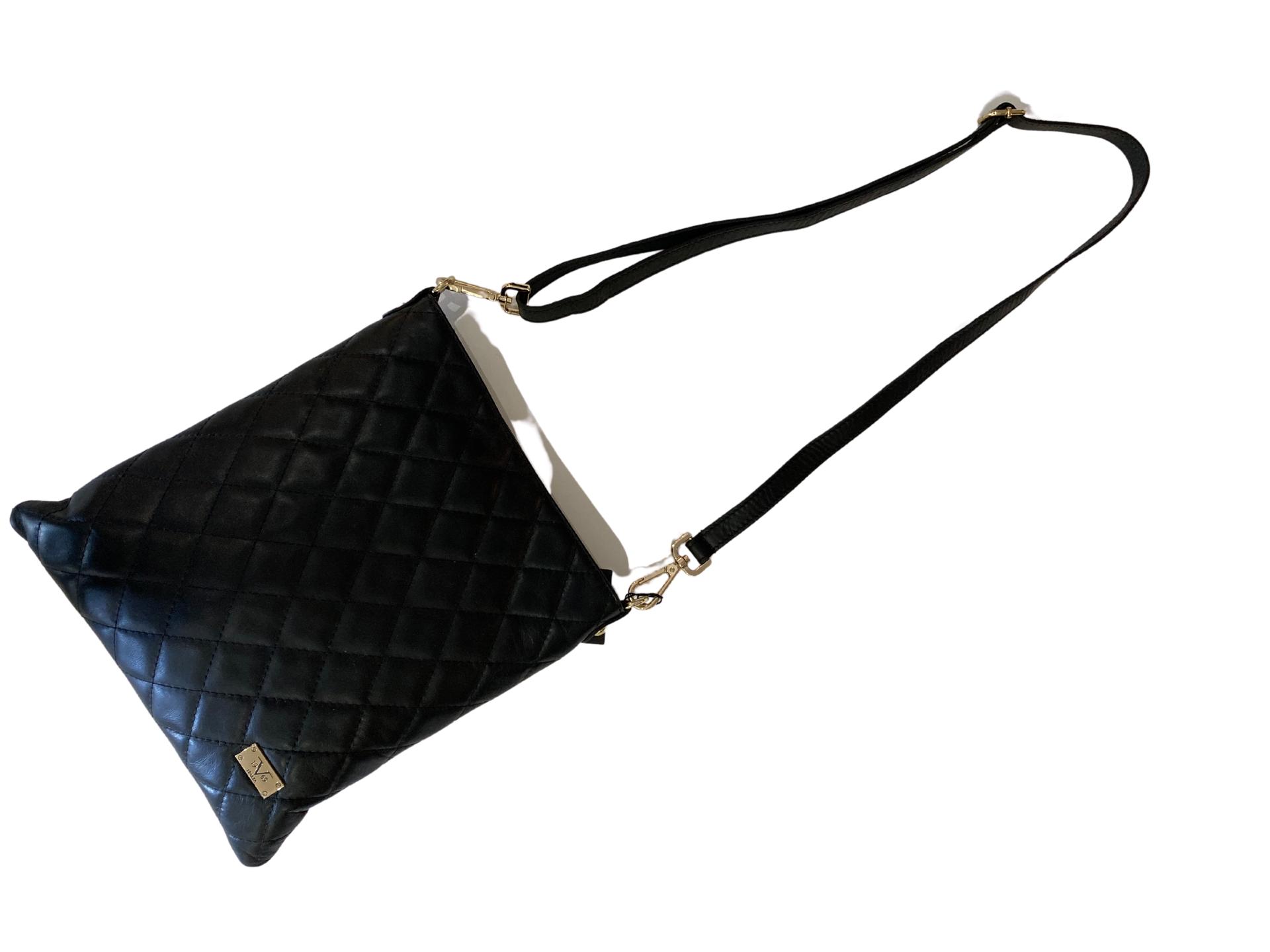 sac noir en cuir versace 19V69