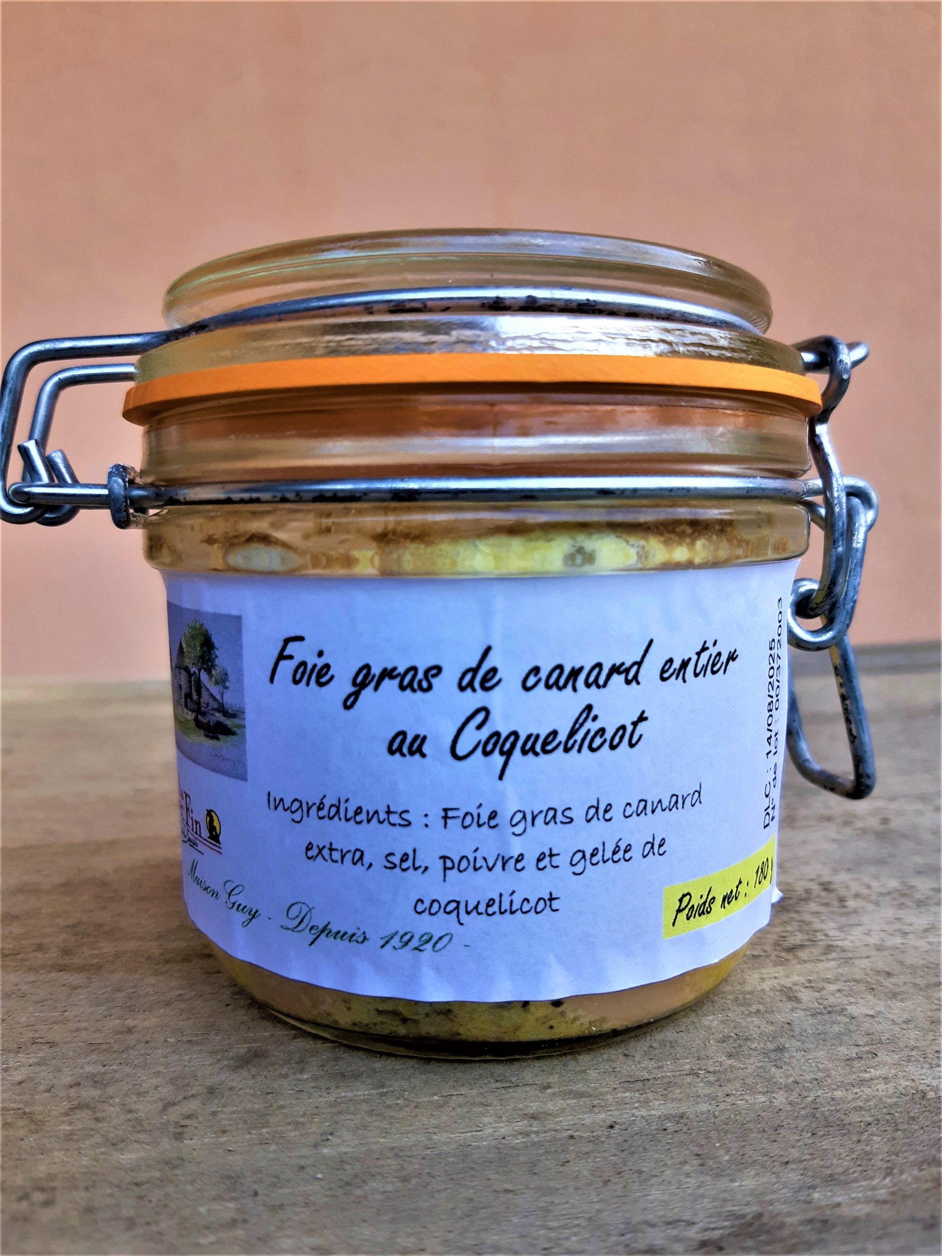 Foie Gras de Canard entier au Coquelicot